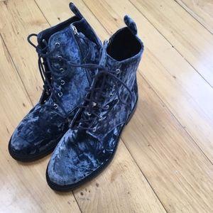 velvet Rebecca Minkoff combat boots